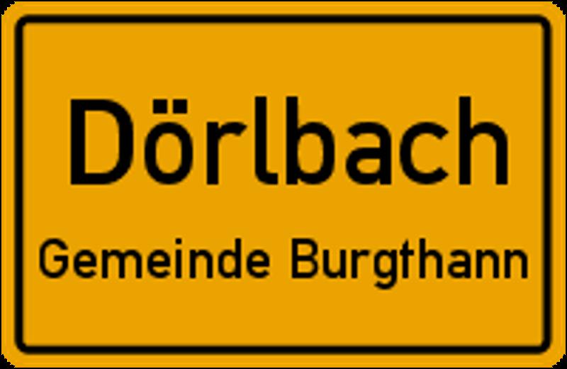 Ortsschild Dörlbach