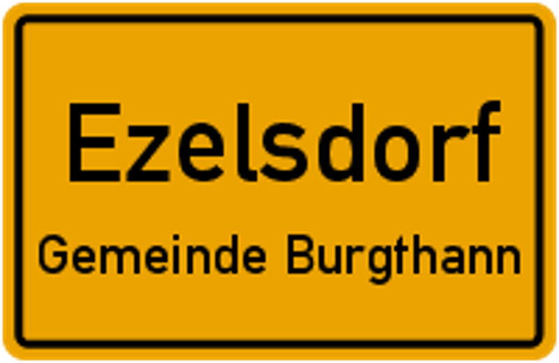 Ortsschild Ezelsdorf