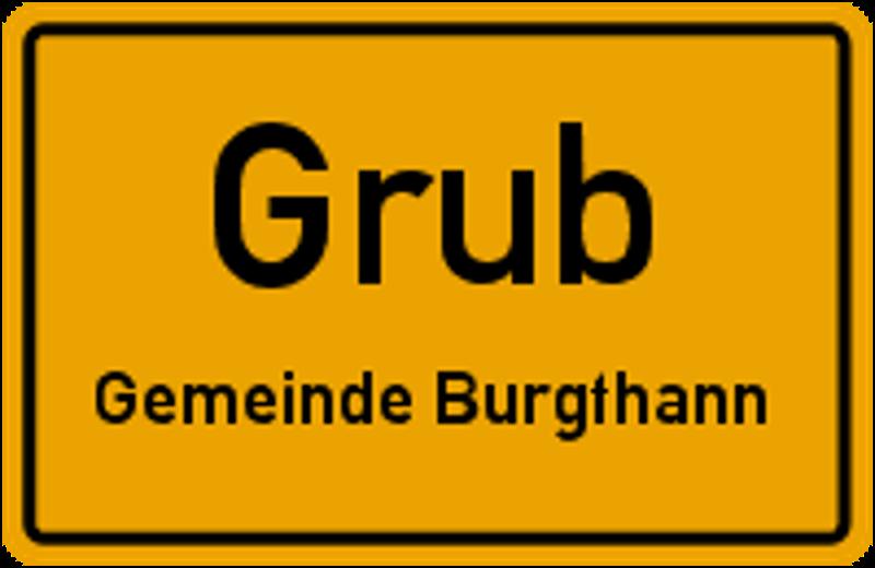 Ortsschild Grub
