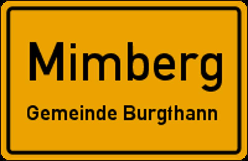 Ortsschild Mimberg