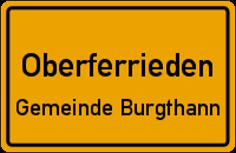 Ortsschild Oberferrieden