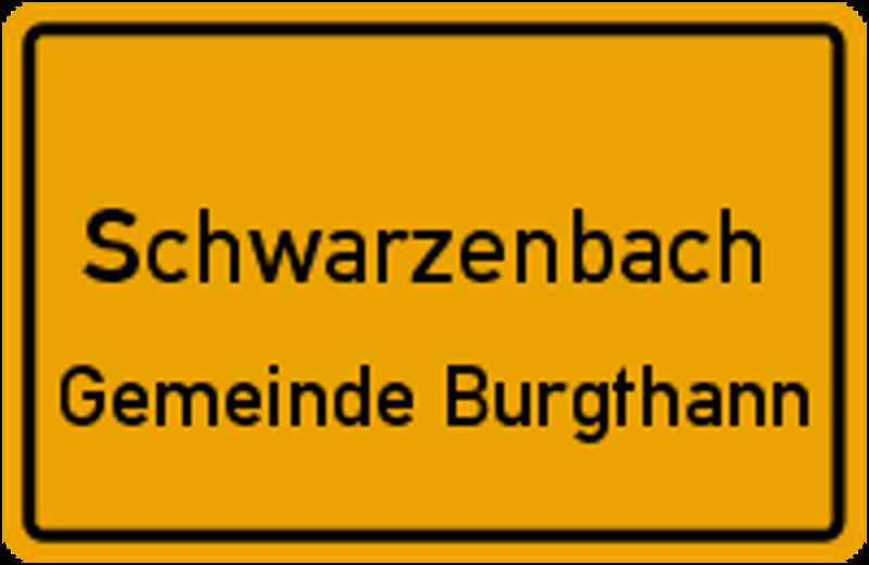 Ortsschild Schwarzenbach