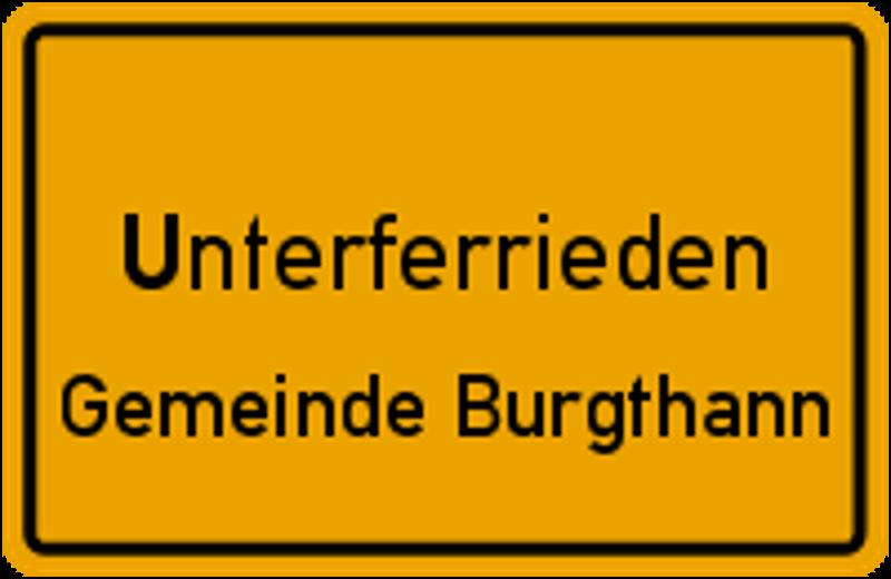 Ortsschild Unterferrieden