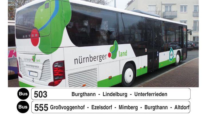 Busfahrpläne 503 und 555